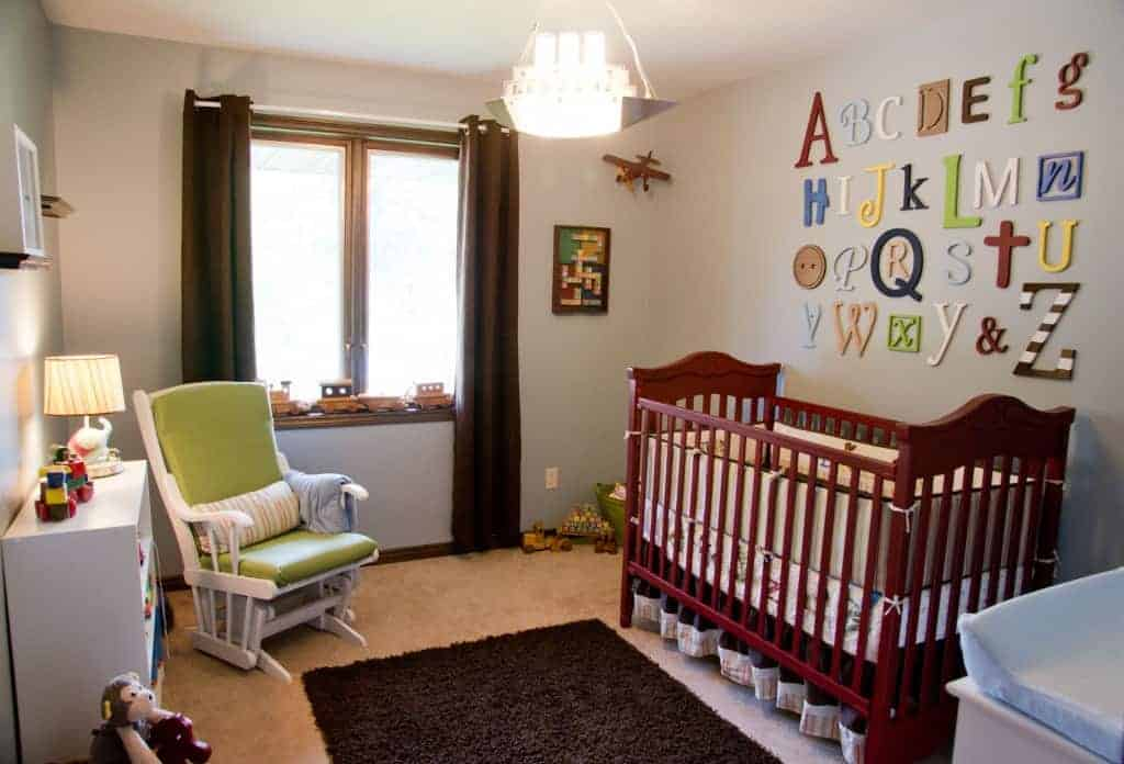 Vintage Toy Inspired Nursery on a Budget!