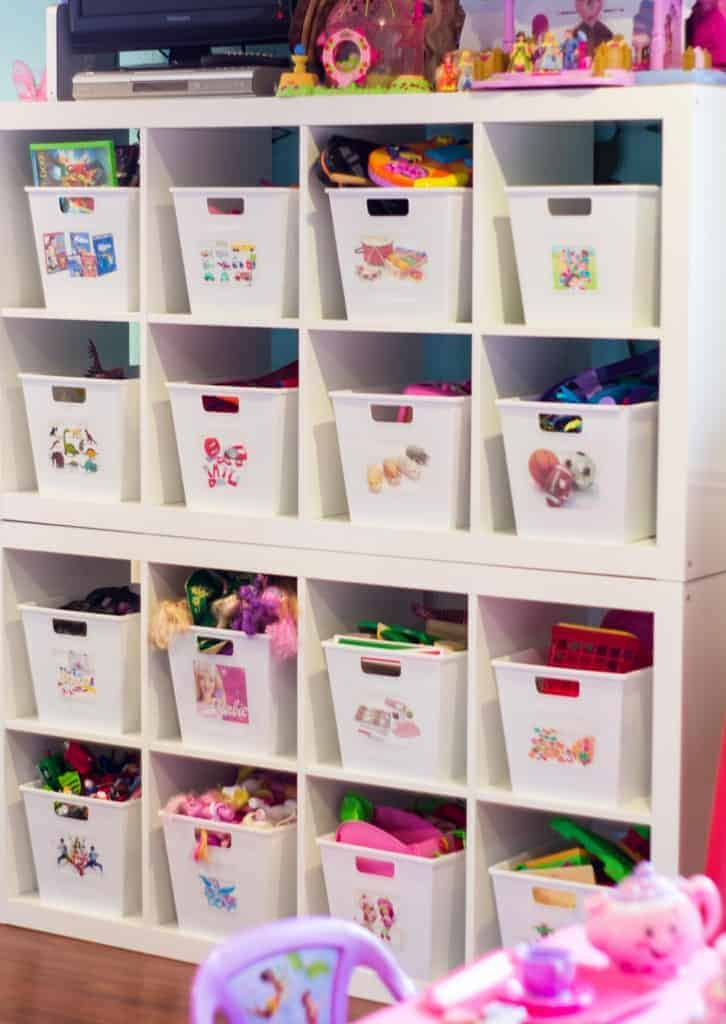 An organized playroom clutterbug me for Kids room toy storage