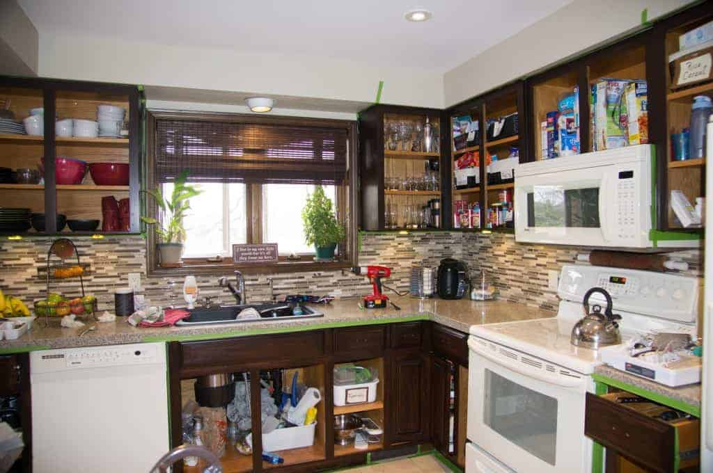 Kitchen Cabinets No Doors how to gel stain kitchen cabinets