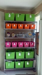 labeled craft boxes