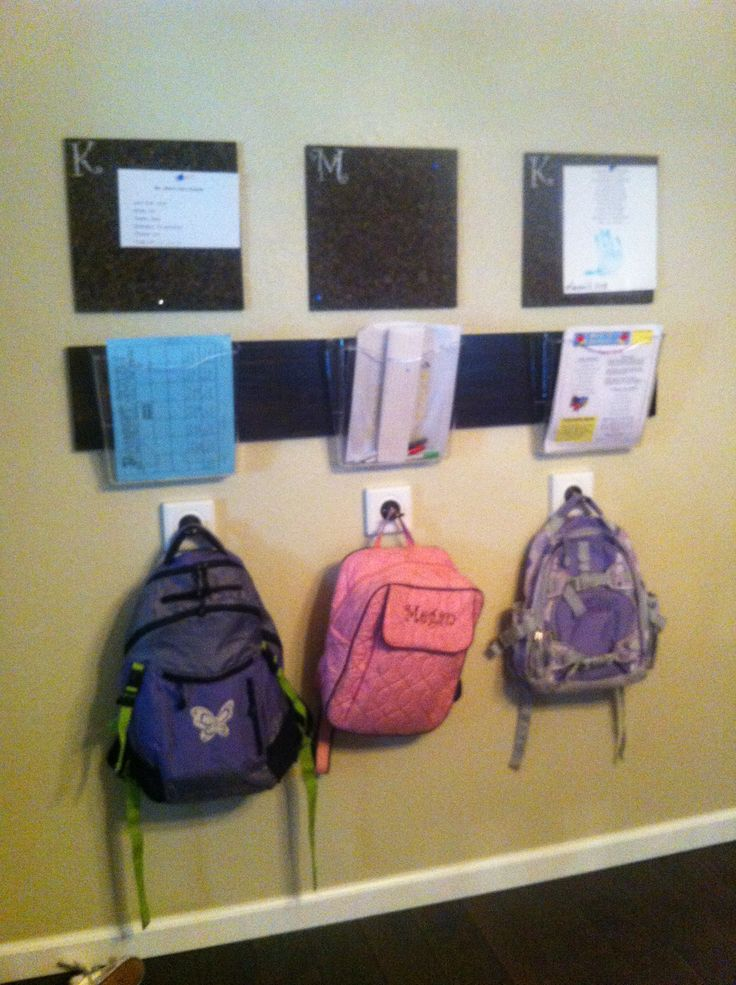 Get Organized With A Back Pack Station