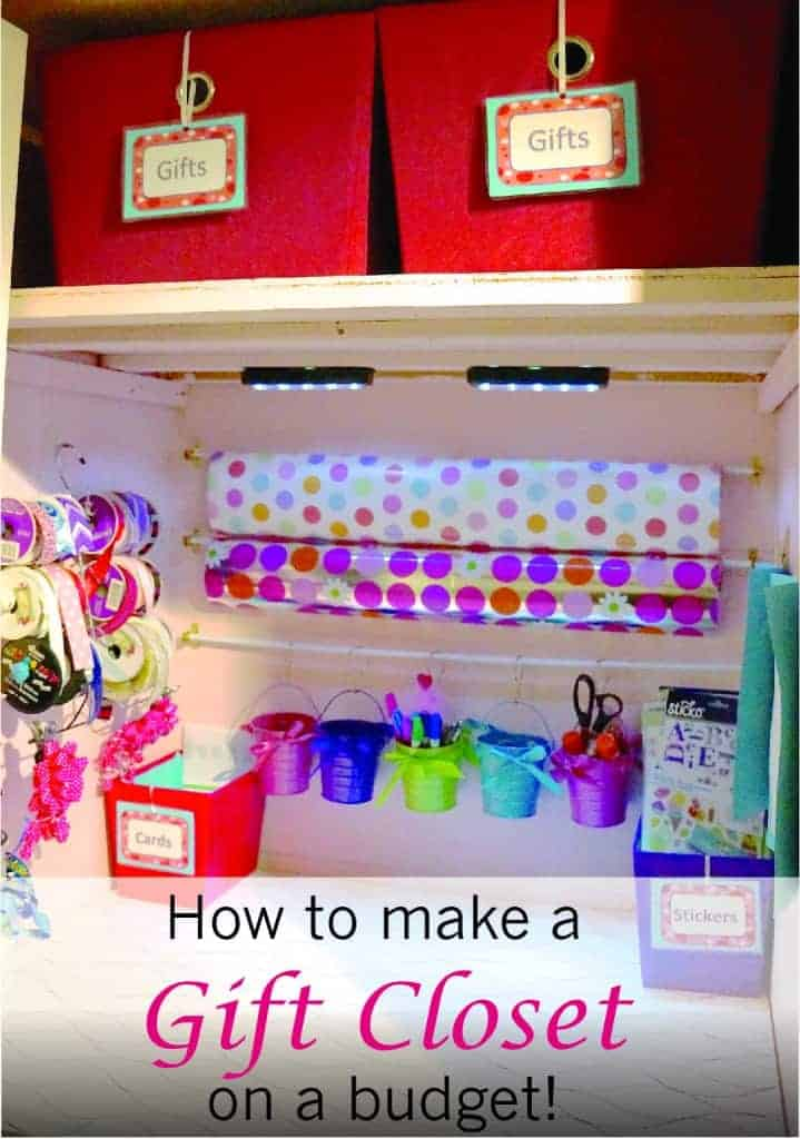 Create a gift closet on a budget!