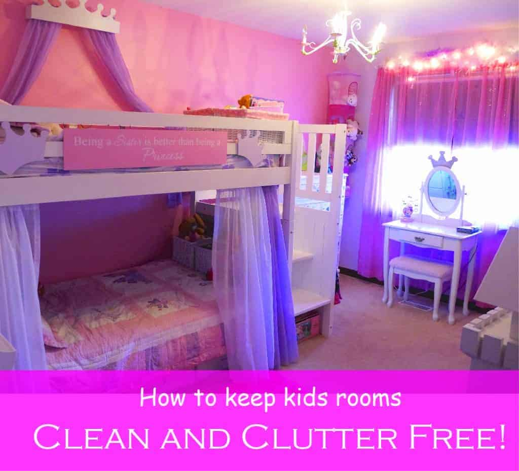 keep kids rooms clean and clutter free | clutterbug
