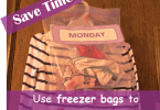 Organize Kids Clothes with Freezer Bags