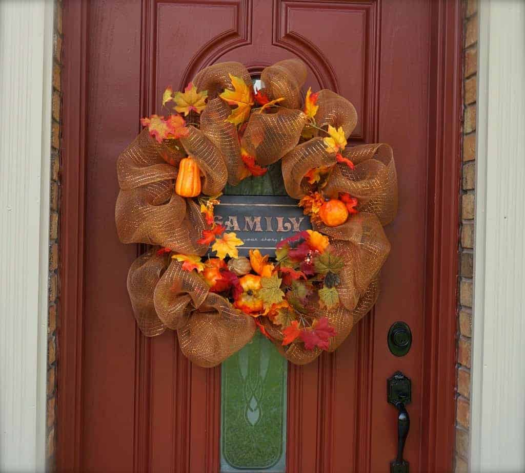how to make a fall wreath for under 10 clutterbug me