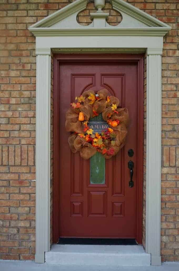 how to make something fall when door opens