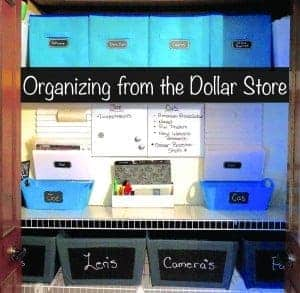 organizing from the dollar store