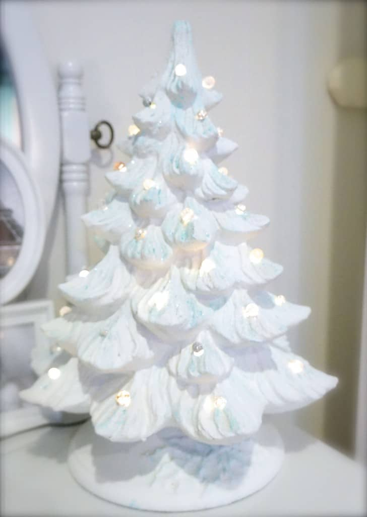 Updating an Old Ceramic Christmas Tree | ClutterBug.Me
