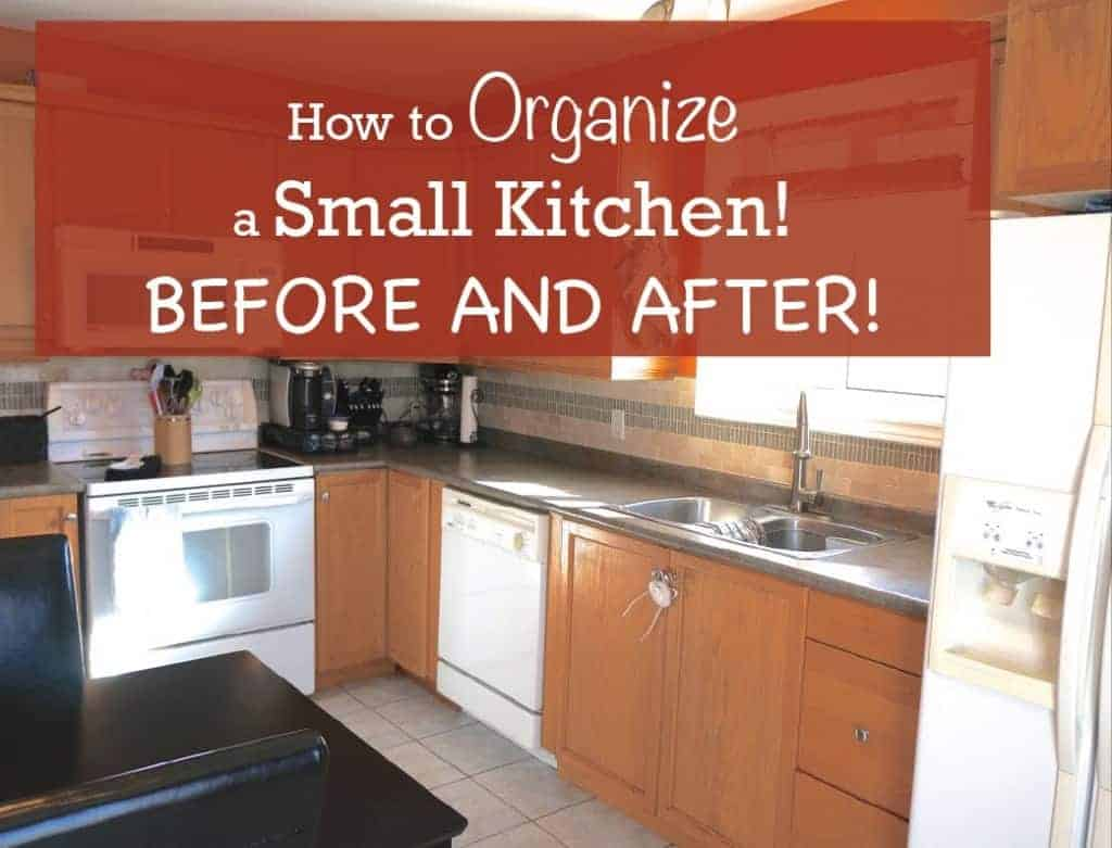 How to organize a small kitchen before and after for How to set up kitchen cabinets