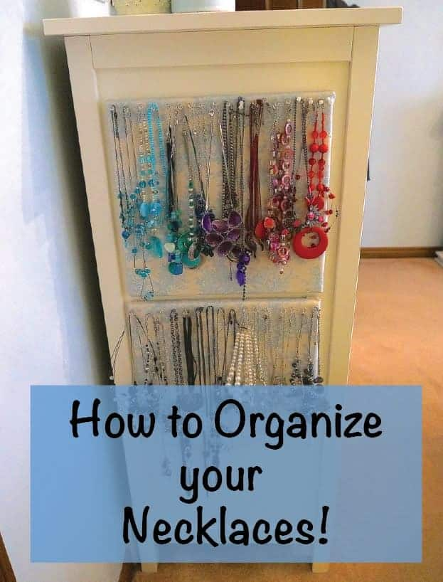 How to Organize Necklaces - DIY necklace organizer