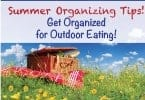 Summer Organizing Tips – Outdoor Eating