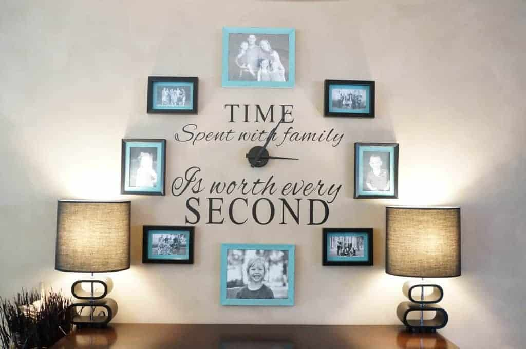 Diy Family Photo Wall Clock
