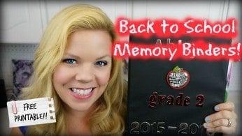 DIY Back To School Memory Binder