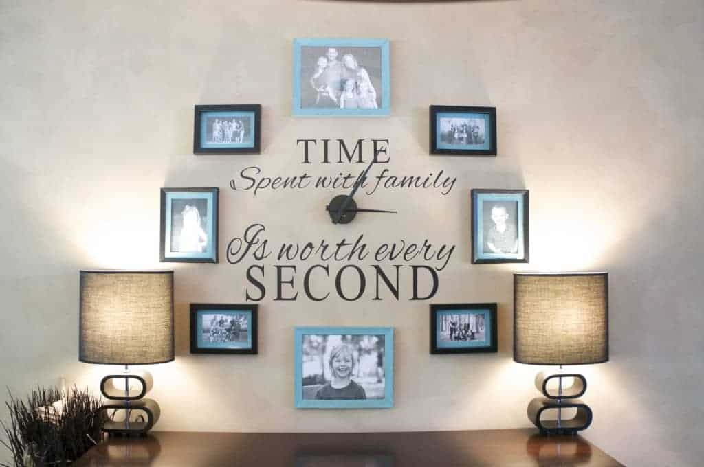 Diy Family Photo Wall Clock Clutterbug Me