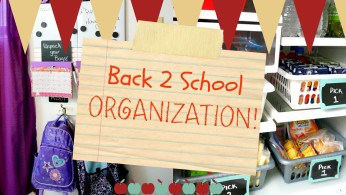 Back to School Organization – Backpack station and school lunches!
