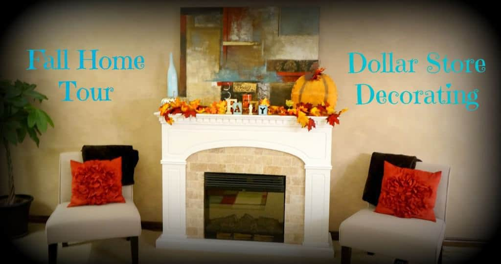 Fall home tour dollar store decorating clutterbug me - Dollar store home decor ideas pict ...