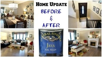 Home Update Before and After – Gel Staining Wood