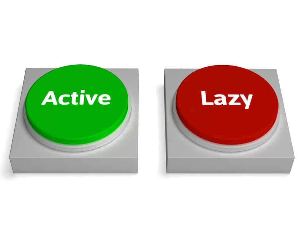 Active Lazy Buttons Showing Action Or Inaction