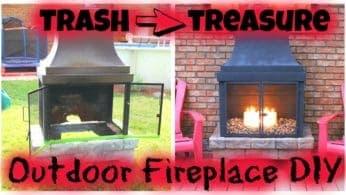 Trash to Treasure – Outdoor Fireplace DIY