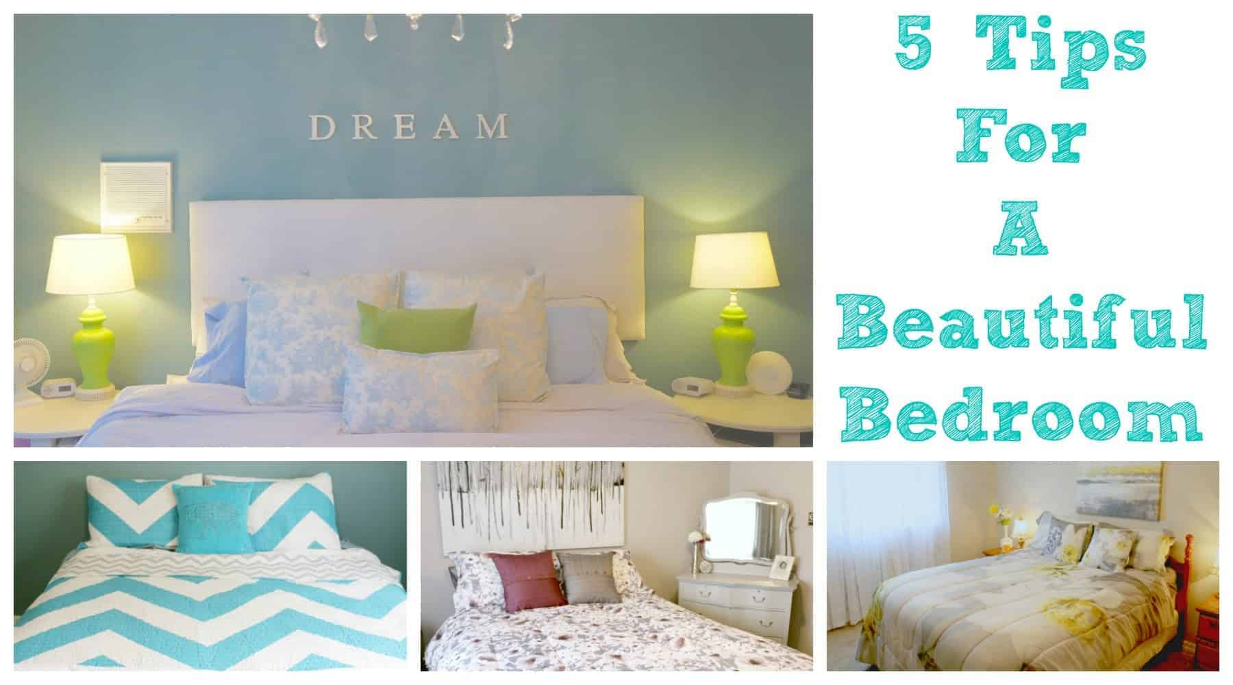 5 tips for a beautiful bedroom clutterbug me for Beautiful bedroom pictures me