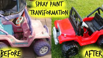 Spray Paint Transformation – Before and After