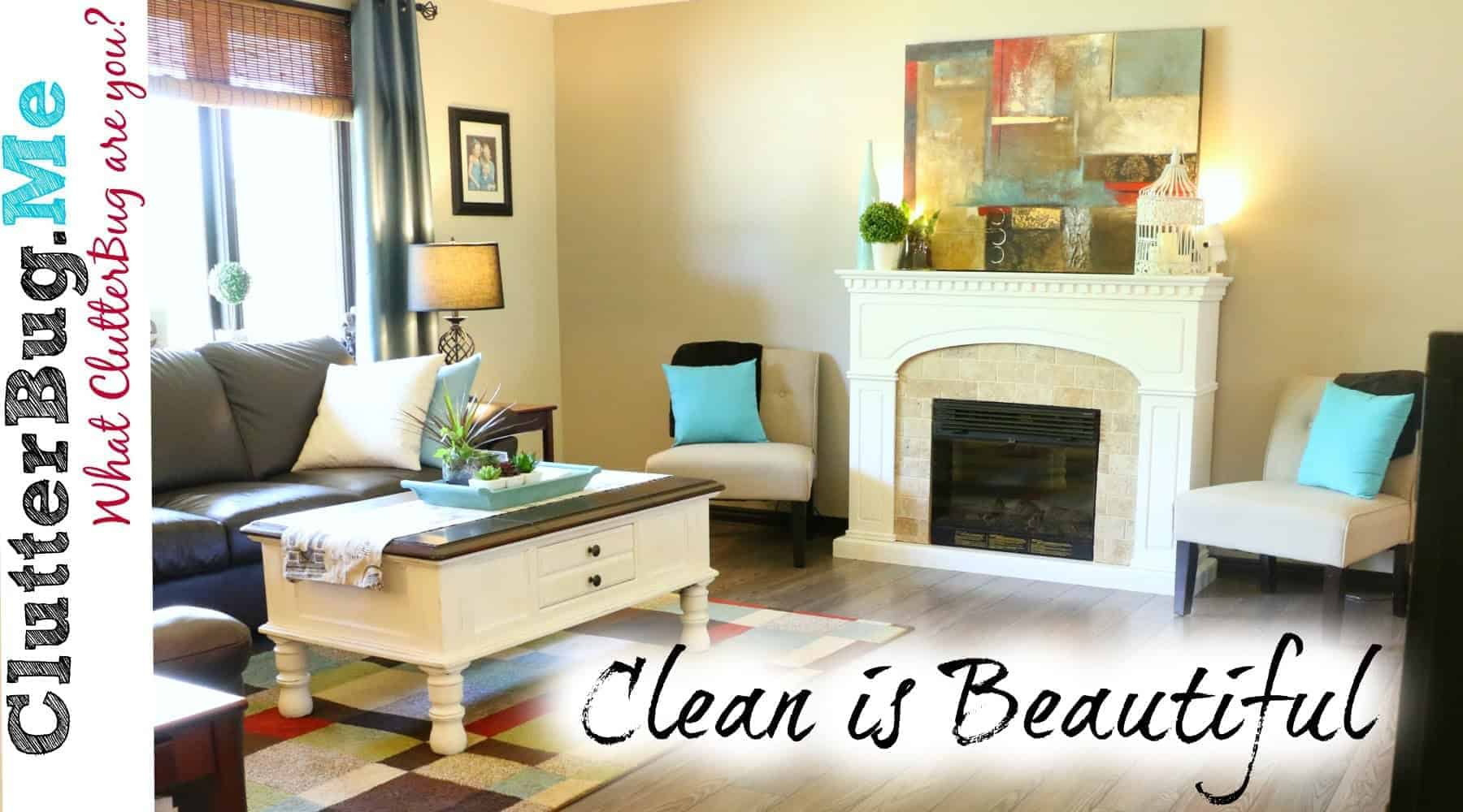 clean home is beautiful organizing tip of the day clutterbug me