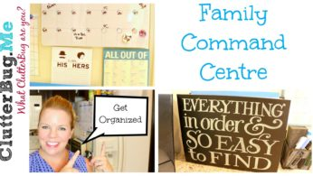 Family Command Centre – Back to School Organization