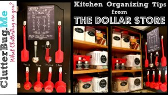 Kitchen Organizing Tips and Ideas from The Dollar Store