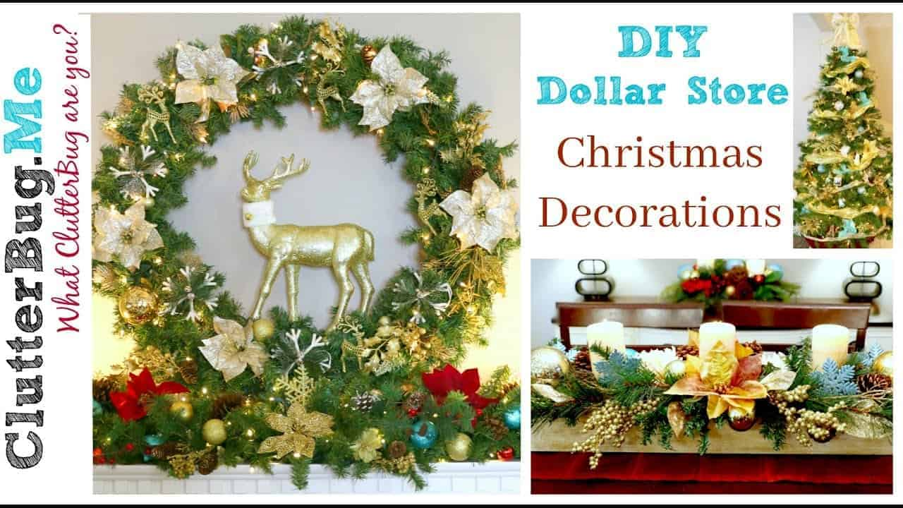 Christmas Decorating Ideas Dollar Tree : Diy dollar tree christmas decor ideas for clutterbug me