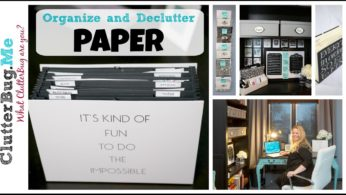 Organize and Declutter Paper with Me