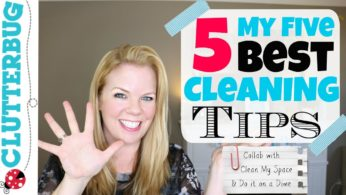 My 5 Best Cleaning Tips: Collab with Clean My Space and DoItOnADime