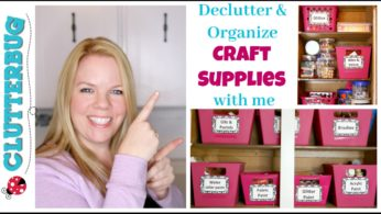 Declutter and Organize Craft Supplies with Me – Dollar Tree Organizing!
