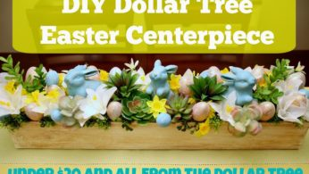 DIY Dollar Tree Decor – How to Make an Easter Centerpiece