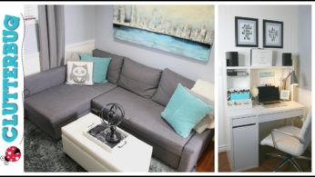 Office Makeover – Small home office decorating and organizing ideas and tour