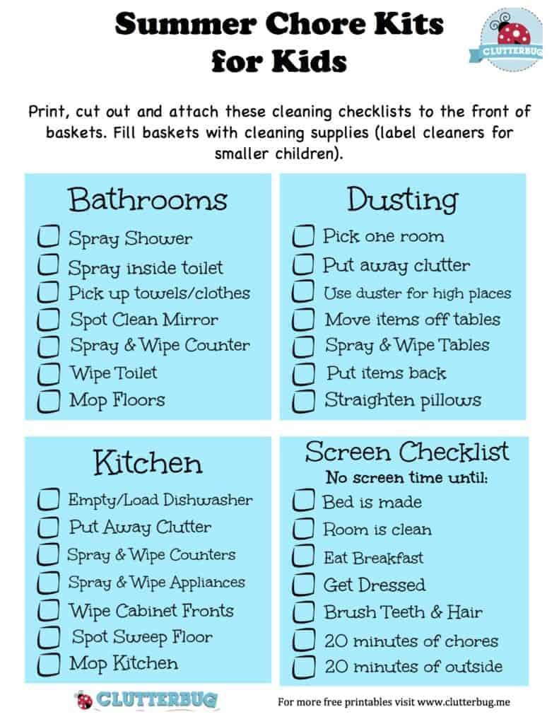 chores checklists