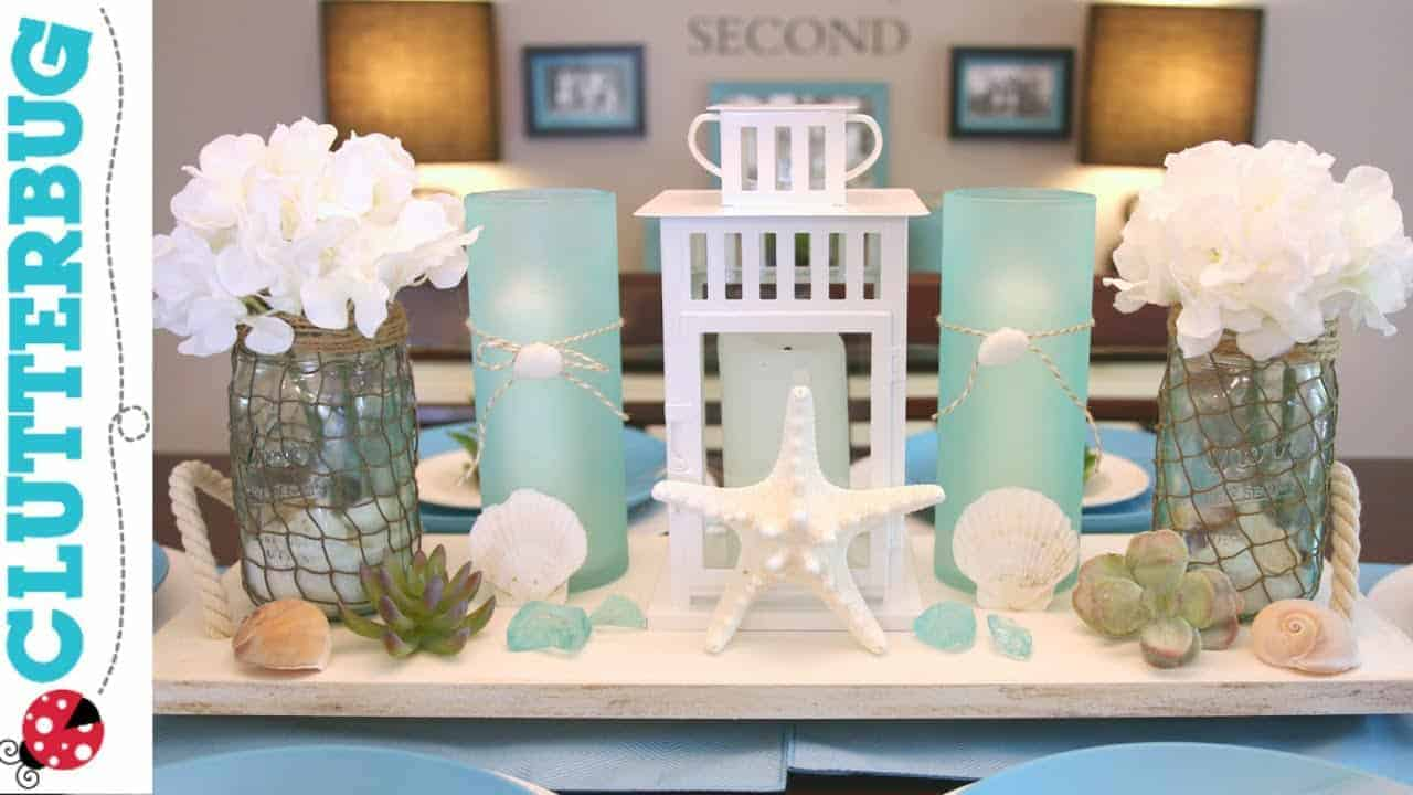 Diy beach theme decor ideas pottery barn hack for Beach themed mural
