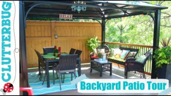Backyard Patio Decorating Ideas, Tips and Tour