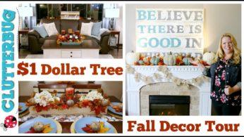 🍁 Dollar Tree Fall Decor Haul & Home Tour 🍁