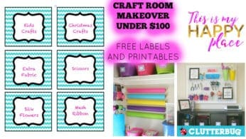 Craft Room Makeover Under 0 & FREE PRINTABLES