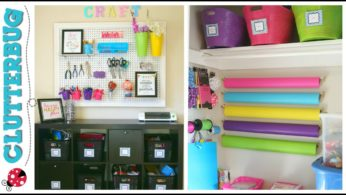 Cluttered to Clean – Craft room declutter and organization ideas on a budget