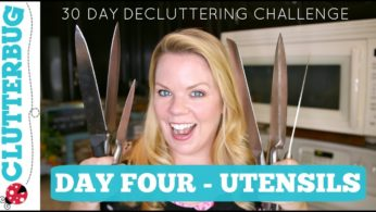 Day Four – Utensils – 30 Day Home Decluttering Challenge