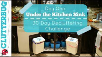Day One – UNDER THE KITCHEN SINK – 30 Day Decluttering Challenge
