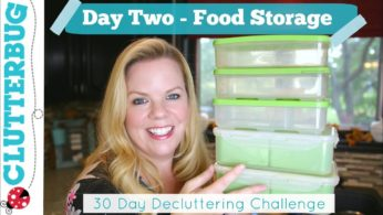 Day Two – Food Storage – 30 Day Decluttering Challenge