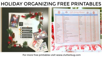 Holiday Organizing Free Printables