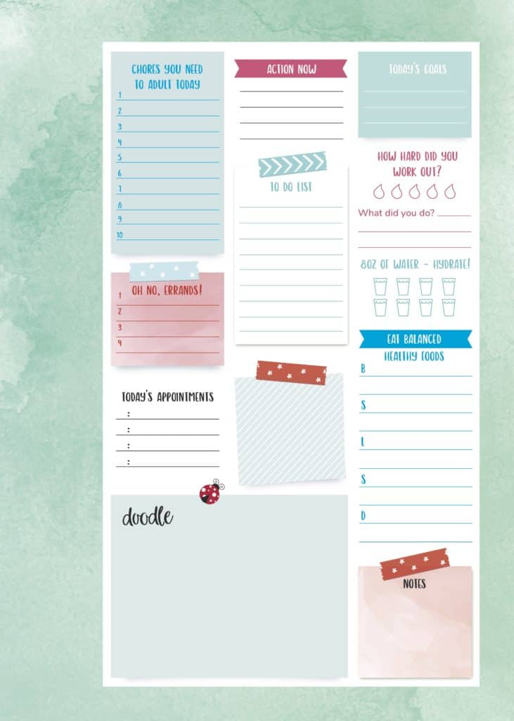 Free planning page