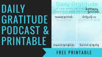 Daily Gratitude Challenge and Free Printable