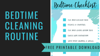 Bedtime Cleaning Routine