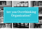 Are you Overthinking Organization?