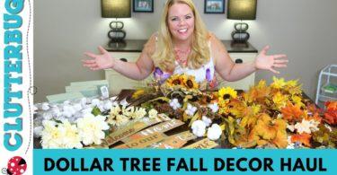 DOLLAR TREE HAUL 🍁 Fall Decor Ideas 🍁