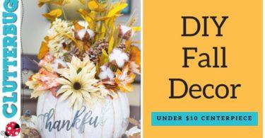 DIY Fall Decor for Under